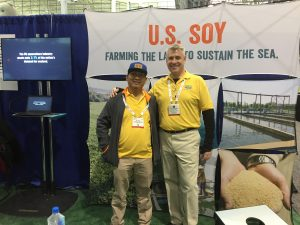 At the USSEC booth at SENA 2017 with our USSEC Indonesia Technical Manager, Mr.Pamudi