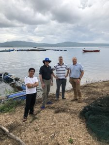 On the shores of Lake Volta at Amur Farms in Ghana