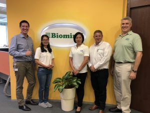 Two new USSEC Technical Managers visiting Biomin