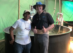 Visit to an offshore cage hatchery operation in Indonesia